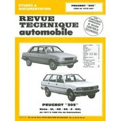RTA Peugeot 305 GL, GR, SR phase 1 et GL phase 2