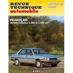 RTA Peugeot 305 GR, SR phase 2 et GT, GTX, auto 1983-89