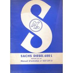 Sachs Diesel 600L, notice d'entretien
