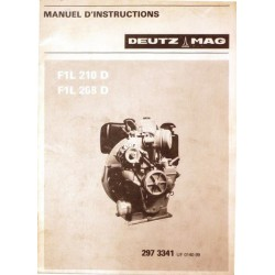 Deutz Mag F1L 210 D et F1L 208 D, notice d'entretien