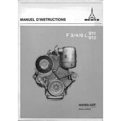Deutz Mag F3/4/6L 911 et F3/4/6L 912, notice d'entretien