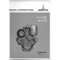 Deutz Mag F3-6L 911, F3-6L 912 et BF6L 912, notice d'entretien