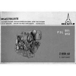 Deutz Mag F3L 911 et F3L 912, catalogue de pièces
