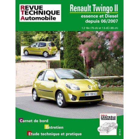 rta renault twingo ii phase 1 essence et diesel. Black Bedroom Furniture Sets. Home Design Ideas