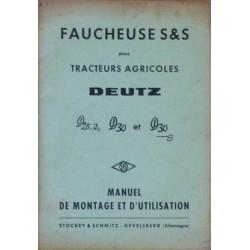 Deutz D25.2, D30 et D30S, faucheuse Stockey & Schmitz, notice d'utilisation