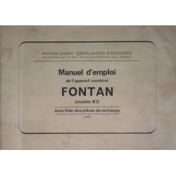 Fontan R7 pulvérisateur, notice d'utilisation et catalogue de pièces