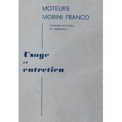 Morini Franco, moteurs agricoles et industriels, notice d'entretien