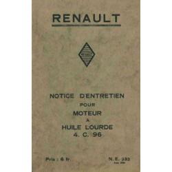 Renault 4 C 96, notice d'entretien