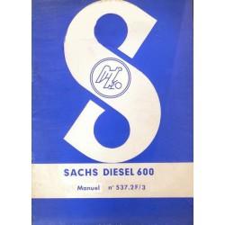 Sachs Diesel 600, notice d'entretien