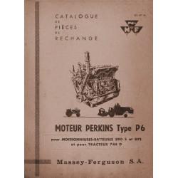 Perkins P6, catalogue de pièces