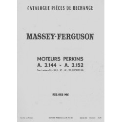 Perkins 3.144 et 3.152, catalogue de pièces