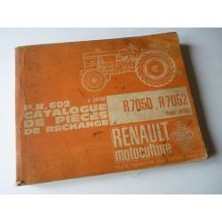 Renault R7050 et R7052, catalogue de pièces original