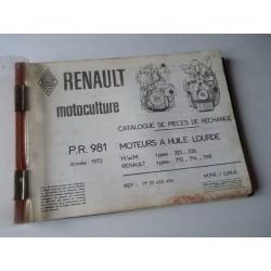 MWM 325, 226, Renault 715, 714, 598, catalogue de pièces original