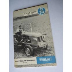 Renault D30, notice d'entretien originale