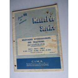 McCormick DLD2, DED3, DGD4, D212 à D430, manuel original, relevage