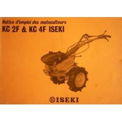 Iseki KF 2F et KC 4F, notice d'entretien