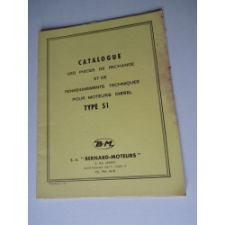 Bernard-Moteurs diesel 51, catalogue de pièces original