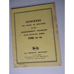 Bernard-Moteurs diesel 34 et 44, catalogue de pièces original