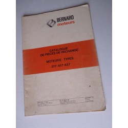Bernard-Moteurs 317, 417, 427, catalogue de pièces original