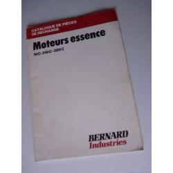 Bernard-Moteurs 18C, 318C, 328C, catalogue de pièces original