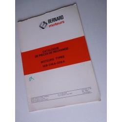 Bernard-Moteurs 18B, 318A, 328A, catalogue de pièces original