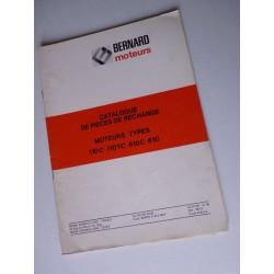 Bernard-Moteurs 110C, 110TC, 610C, 810, catalogue de pièces original