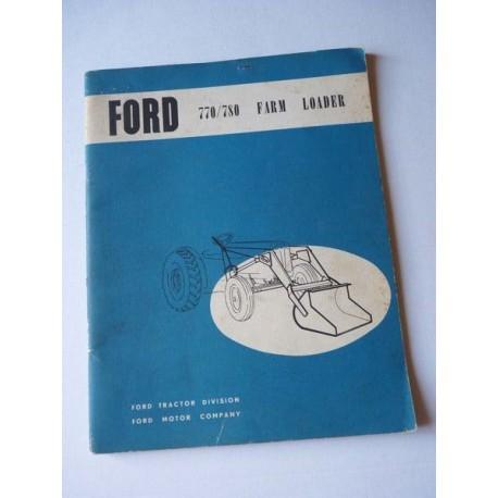Ford chargeur 770, 780, notice et catalogue de pièces original