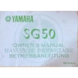 Yamaha SG50, notice d'entretien