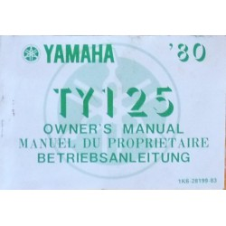 Yamaha TY125, notice d'entretien