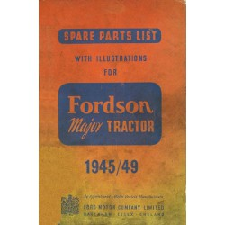 Fordson Major, catalogue de pièces
