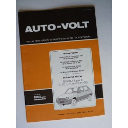 Auto Volt Renault Supercinq C, TC, L, GL, TL, GTL