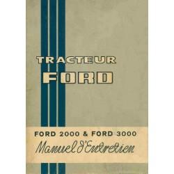 Ford 2000 et 3000, notice d'entretien