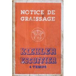 Kœhler Escoffier 4 temps, notice d'entretien