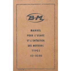 Bernard-Moteurs 112 et 112 bis, notice d'entretien et catalogue de pièces