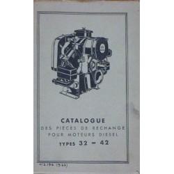 Bernard-Moteurs moteur diesel 32 et 42, catalogue de pièces
