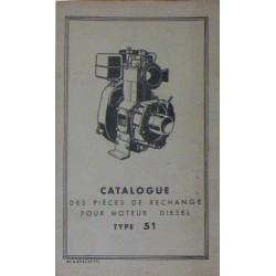 Bernard-Moteurs moteur diesel 51, catalogue de pièces