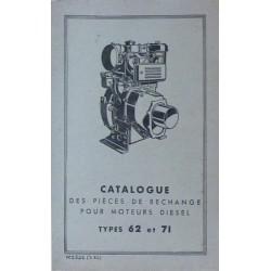 Bernard-Moteurs moteur diesel 62 et 71, catalogue de pièces