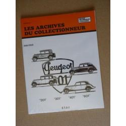Les Archives Peugeot 201, 301, 401, 601