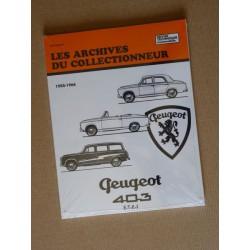Peugeot 403, 403B, plateau, etc. Les Archives du Collectionneur RTA