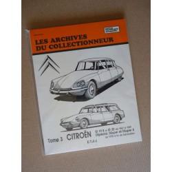 Les Archives Citroën ID19B, ID20, DSpécial, DSuper, DSuper 5