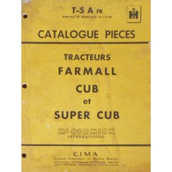 McCormick IH Farmall Cub, Super Cub, catalogue de pièces