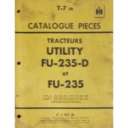McCormick IH Utility FU-235, FU-235-D, catalogue de pièces