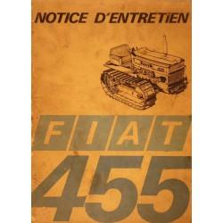 Fiat 455, notice d'entretien