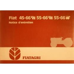 Fiatagri 45-66 et 55-66, notice d'entretien