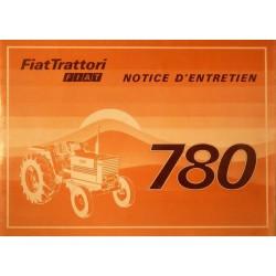 Fiat 780, notice d'entretien