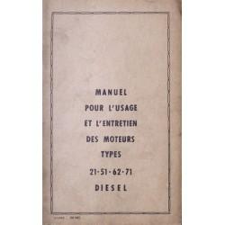 Bernard-Moteurs moteur diesel 21, 51, 62, 71, notice d'entretien