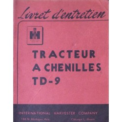 International TD-9, notice d'entretien