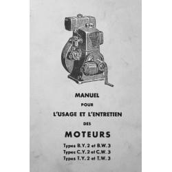 Bernard-Moteurs BY2, BW3, CY2, CW3, TY2, TW3, notice d'entretien