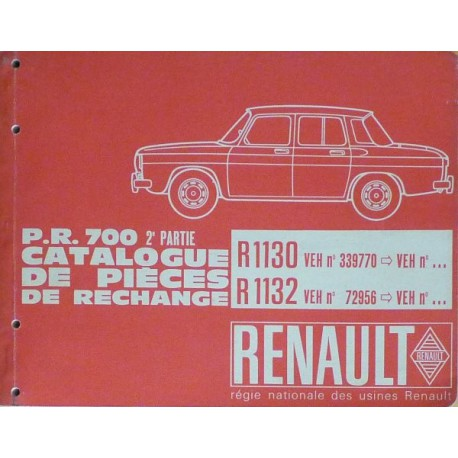renault 8 r1130 et r1132 catalogue de pi ces. Black Bedroom Furniture Sets. Home Design Ideas