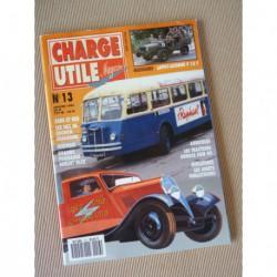Charge Utile n°13, Bernard, Soméca 40, Laffly V15, Saurer, Nordest, Renault TN4H, FWD Cavalar, GLCK, AP1 AP2